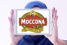 Logotipo de la marca del café de Moccona Imagenes de archivo
