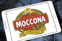 Logotipo de la marca del café de Moccona Imagen de archivo