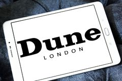Logotipo de la marca de Londres de la duna Imagen de archivo libre de regalías