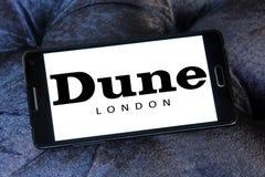 Logotipo de la marca de Londres de la duna Fotografía de archivo