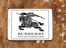 Logotipo de la marca de la moda de Burberry Fotos de archivo