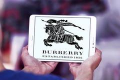 Logotipo de la marca de la moda de Burberry Foto de archivo libre de regalías