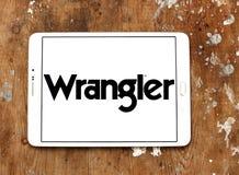 Logotipo de la marca de Wrangler Jeans fotos de archivo libres de regalías