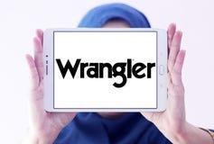 Logotipo de la marca de Wrangler Jeans imagen de archivo libre de regalías
