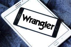 Logotipo de la marca de Wrangler Jeans imágenes de archivo libres de regalías