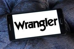 Logotipo de la marca de Wrangler Jeans fotos de archivo