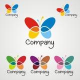 Logotipo 2 de la mariposa Imagen de archivo libre de regalías