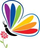 Logotipo de la mariposa y de la flor libre illustration