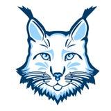 Logotipo de la mascota del lince Jefe del ejemplo aislado lince del vector Foto de archivo libre de regalías
