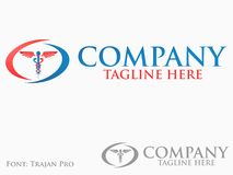 Logotipo de la medicina Imagen de archivo libre de regalías