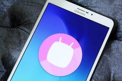 Logotipo de la melcocha de Android Fotografía de archivo
