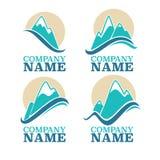 Logotipo de la montaña ilustración del vector