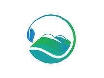 Logotipo de la montaña Imágenes de archivo libres de regalías