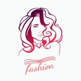 Logotipo de la muchacha de la belleza Fotografía de archivo