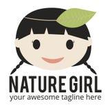 Logotipo de la muchacha de la naturaleza Fotos de archivo libres de regalías