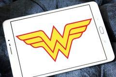 Logotipo de la Mujer Maravilla foto de archivo libre de regalías