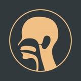 Logotipo de la nariz y de la garganta del oído Imagen de archivo libre de regalías