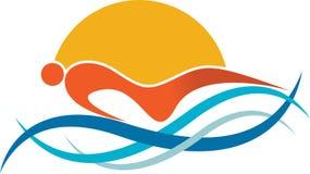 Logotipo de la natación Imagen de archivo libre de regalías