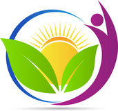 Logotipo de la naturaleza de la salud ilustración del vector