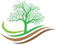 Logotipo de la naturaleza del árbol stock de ilustración