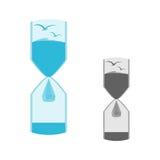 Logotipo de la naturaleza en el reloj de arena Fotografía de archivo libre de regalías