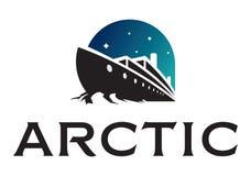 Logotipo de la nave del rompehielos ilustración del vector