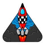 Logotipo de la nave espacial fotos de archivo libres de regalías