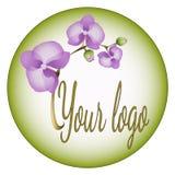 Logotipo de la orquídea Imagenes de archivo