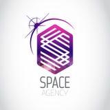 Logotipo de la púrpura del organismo aeroespacial Imagen de archivo libre de regalías