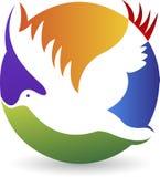Logotipo de la paloma Imagenes de archivo