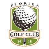 Logotipo de la pelota de golf Imagen de archivo libre de regalías