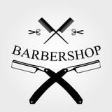 Logotipo de la peluquería de caballeros Fotografía de archivo