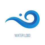 Logotipo de la pendiente del agua Foto de archivo