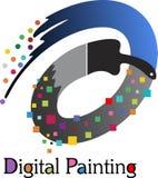 Logotipo de la pintura de Digitaces stock de ilustración