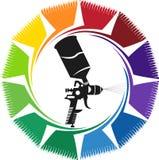 Logotipo de la pintura de espray stock de ilustración