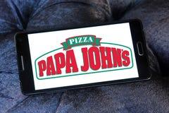 Logotipo de la pizza de johns de la papá Imagen de archivo libre de regalías