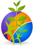 Logotipo de la planta de los pares ilustración del vector