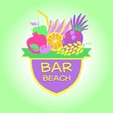 Logotipo de la plantilla Barra de la playa, partido Fotos de archivo