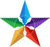 Logotipo de la pluma de la estrella Foto de archivo