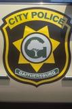 Logotipo de la policía de Montgomery County Maryland Imagen de archivo libre de regalías