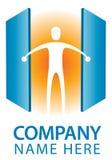 Logotipo de la puerta abierta Imagen de archivo libre de regalías
