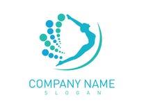 Logotipo de la quiropráctica imágenes de archivo libres de regalías