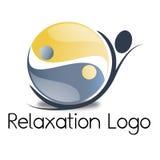 Logotipo de la relajación Imágenes de archivo libres de regalías
