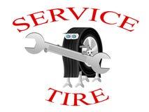 logotipo de la Robot-rueda del centro de servicio Foto de archivo libre de regalías