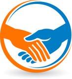 Logotipo de la sacudida de la mano Imagen de archivo libre de regalías