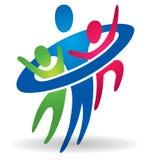 Logotipo de la salud de la familia que cuida Fotografía de archivo
