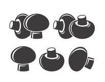 Logotipo de la seta Seta aislada en el fondo blanco ilustración del vector