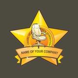 Logotipo de la silla Fotografía de archivo libre de regalías