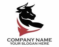 Logotipo de la silueta de Bull foto de archivo libre de regalías