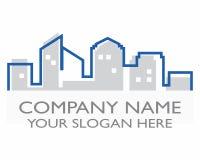 Logotipo de la silueta del edificio de la ciudad Imágenes de archivo libres de regalías